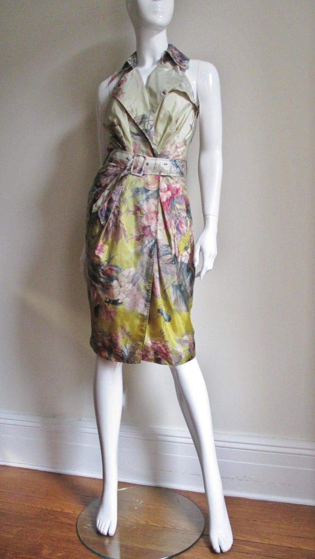 Jean Paul Gaultier Silk Flower Wrap Dress For Sale 4