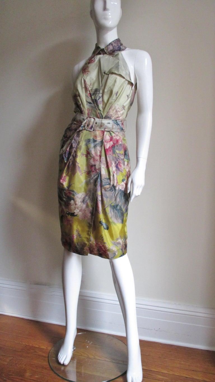 Jean Paul Gaultier Silk Flower Wrap Dress For Sale 5