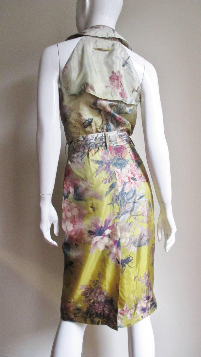 Jean Paul Gaultier Silk Flower Wrap Dress For Sale 6