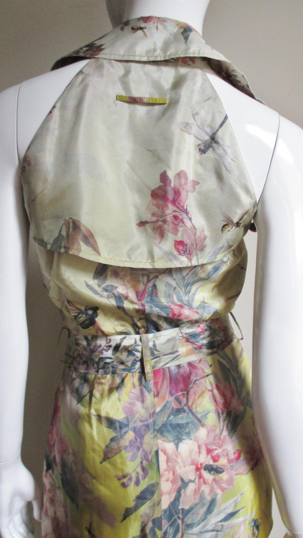 Jean Paul Gaultier Silk Flower Wrap Dress For Sale 7