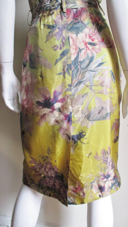 Jean Paul Gaultier Silk Flower Wrap Dress For Sale 8