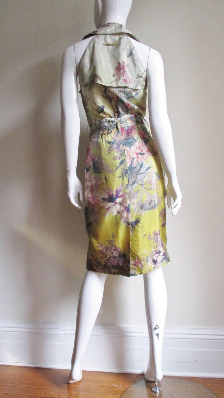 Jean Paul Gaultier Silk Flower Wrap Dress For Sale 9