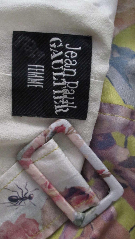 Jean Paul Gaultier Silk Flower Wrap Dress For Sale 10