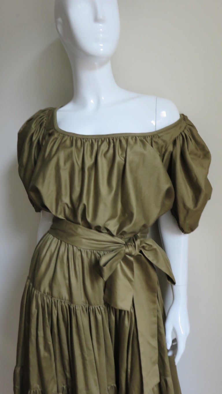 Women's 1960s Yves St Laurent Rive Gauche Peasant Skirt and Top For Sale