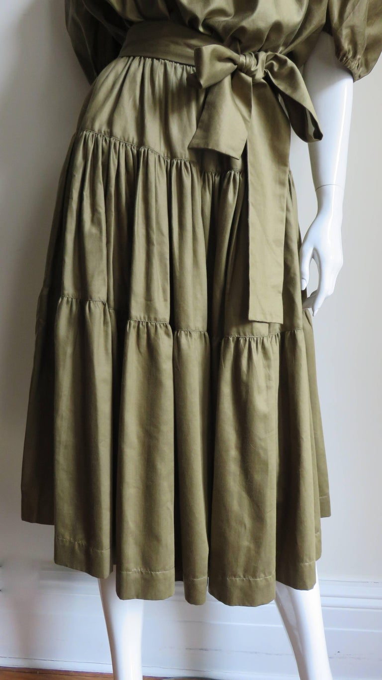 1960s Yves St Laurent Rive Gauche Peasant Skirt and Top For Sale 2