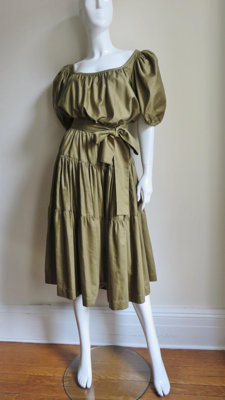 1960s Yves St Laurent Rive Gauche Peasant Skirt and Top For Sale 3