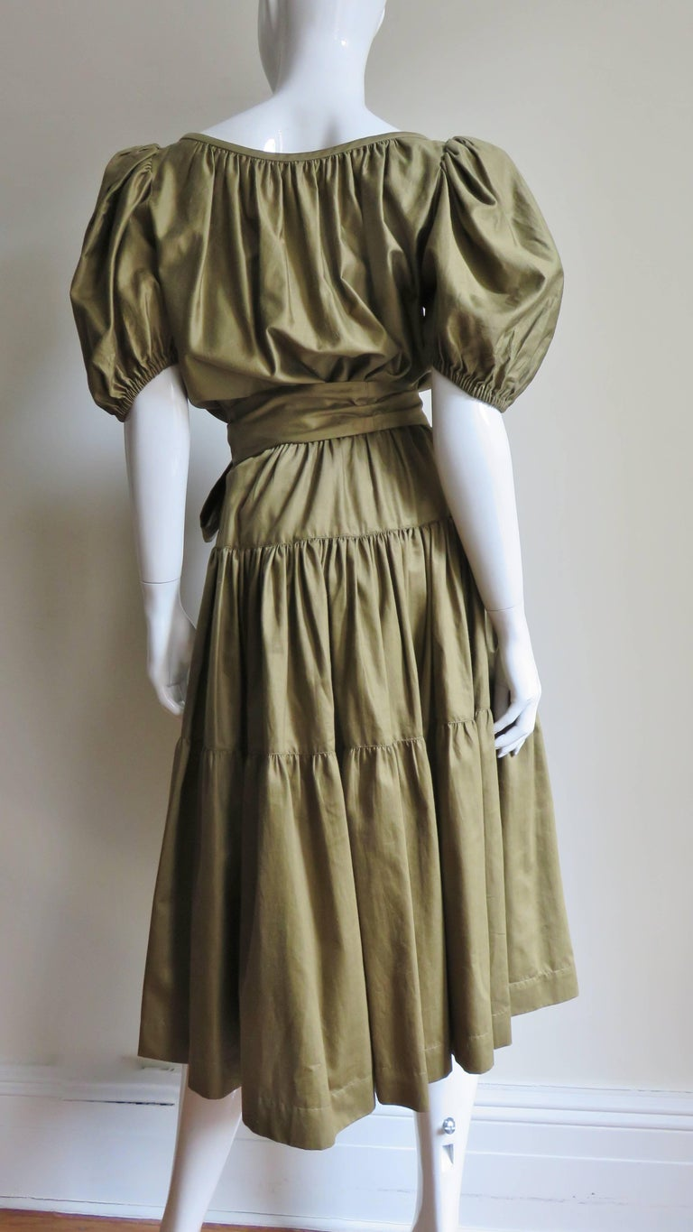 1960s Yves St Laurent Rive Gauche Peasant Skirt and Top For Sale 6