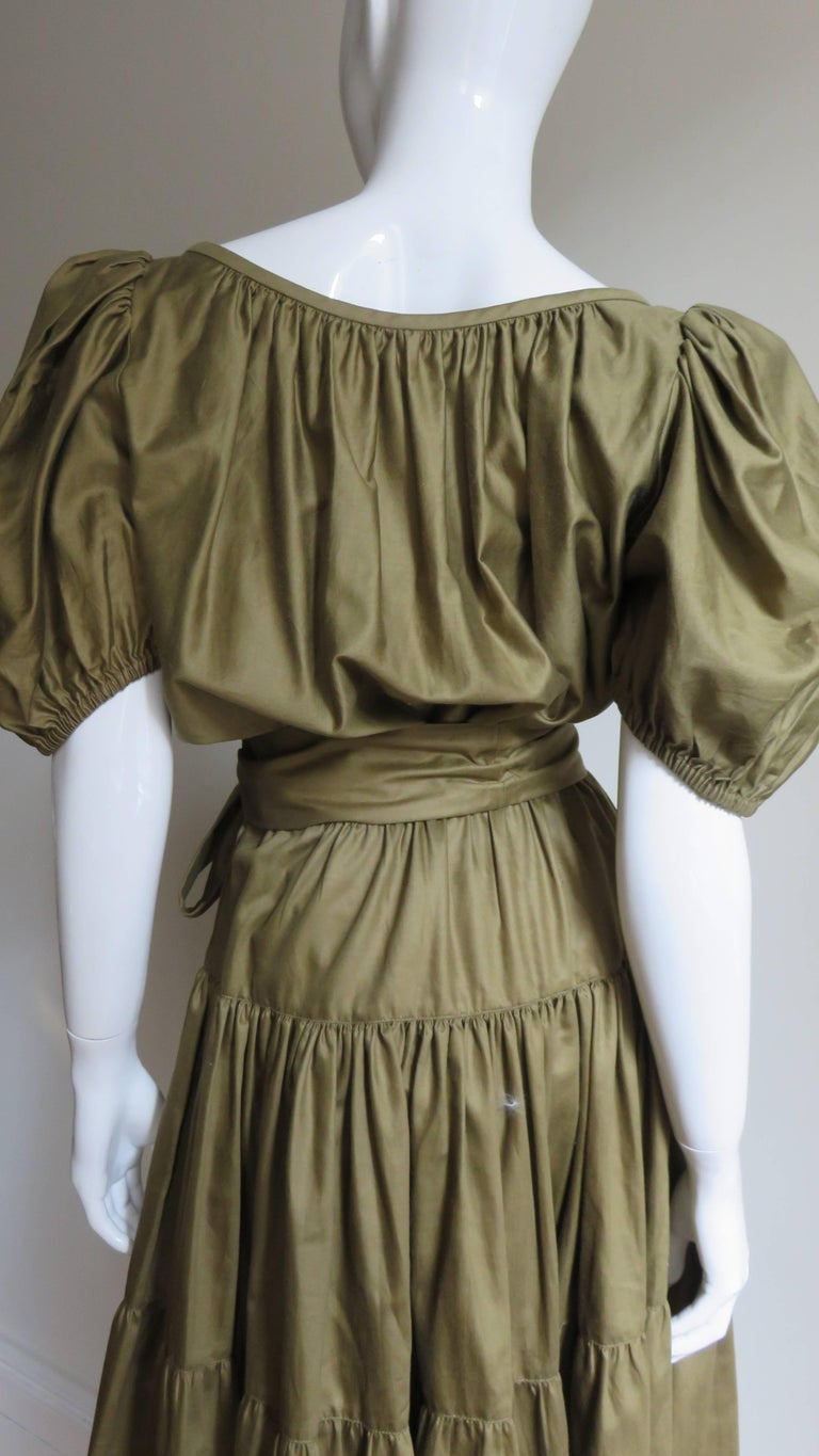 1960s Yves St Laurent Rive Gauche Peasant Skirt and Top For Sale 7