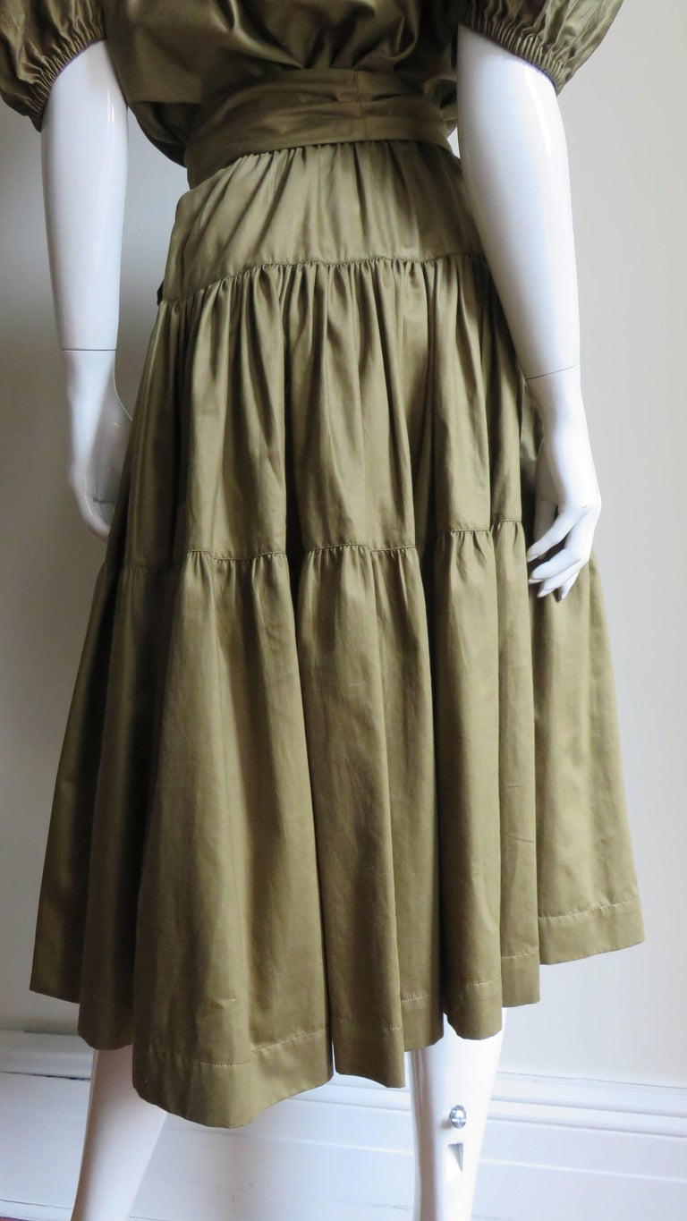 1960s Yves St Laurent Rive Gauche Peasant Skirt and Top For Sale 9