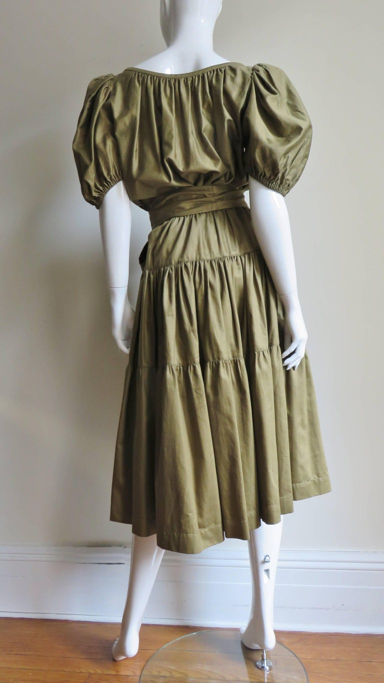 1960s Yves St Laurent Rive Gauche Peasant Skirt and Top For Sale 10
