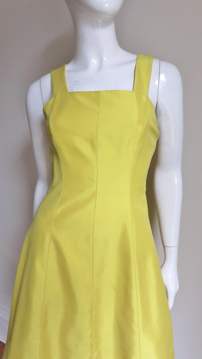 Claude Montana Sculptural Dress with Cutout Back  In Good Condition For Sale In New York, NY