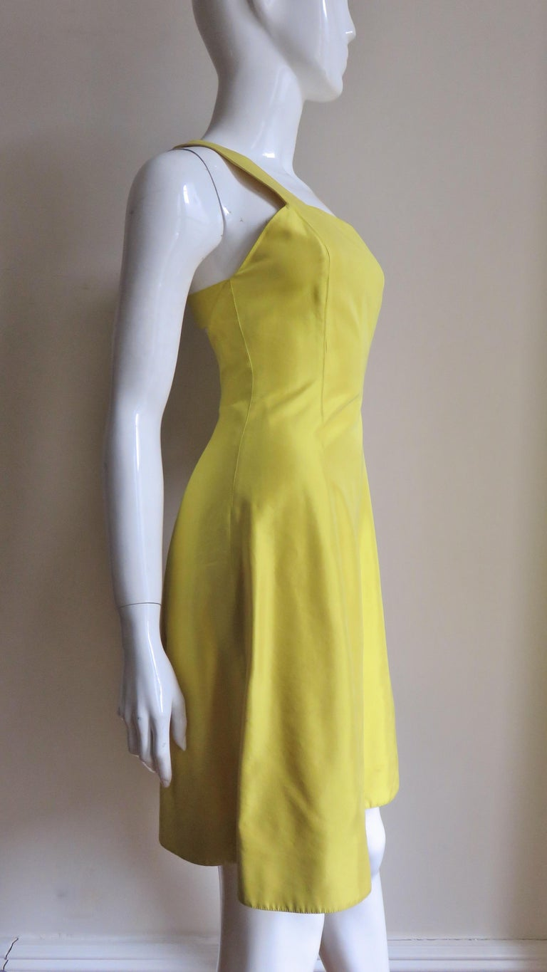 Claude Montana Sculptural Dress with Cutout Back  For Sale 6