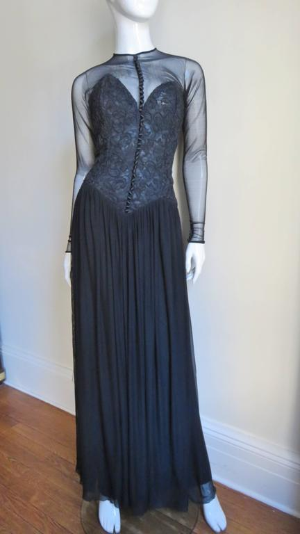 Women's 1980s Vicky Tiel Corset Dress For Sale