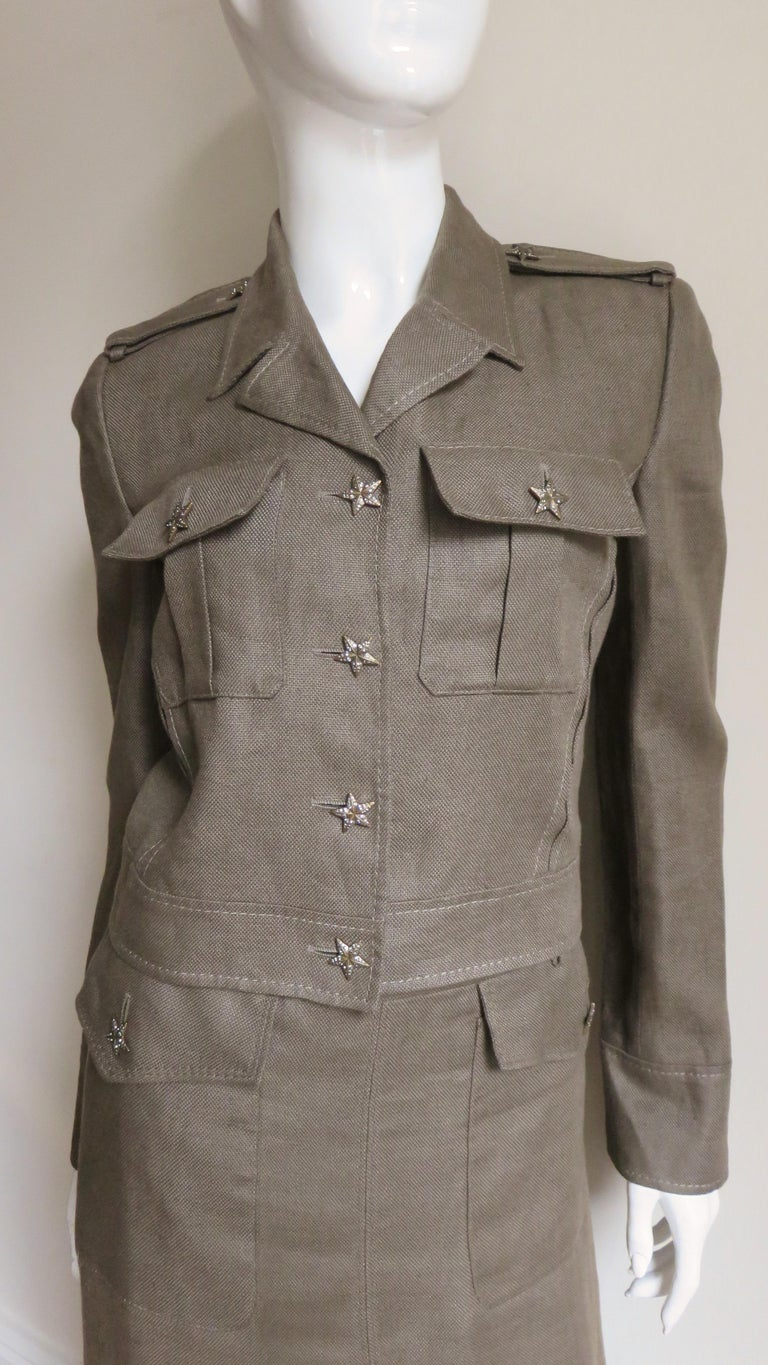 Valentino Linen Jacket and Skirt For Sale 1