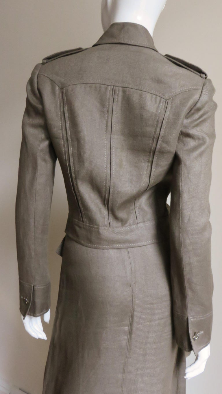 Valentino Linen Jacket and Skirt For Sale 7