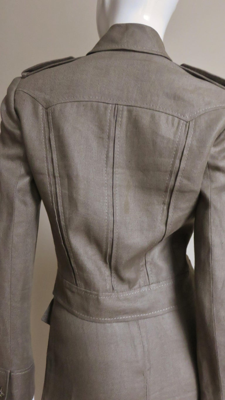 Valentino Linen Jacket and Skirt For Sale 8