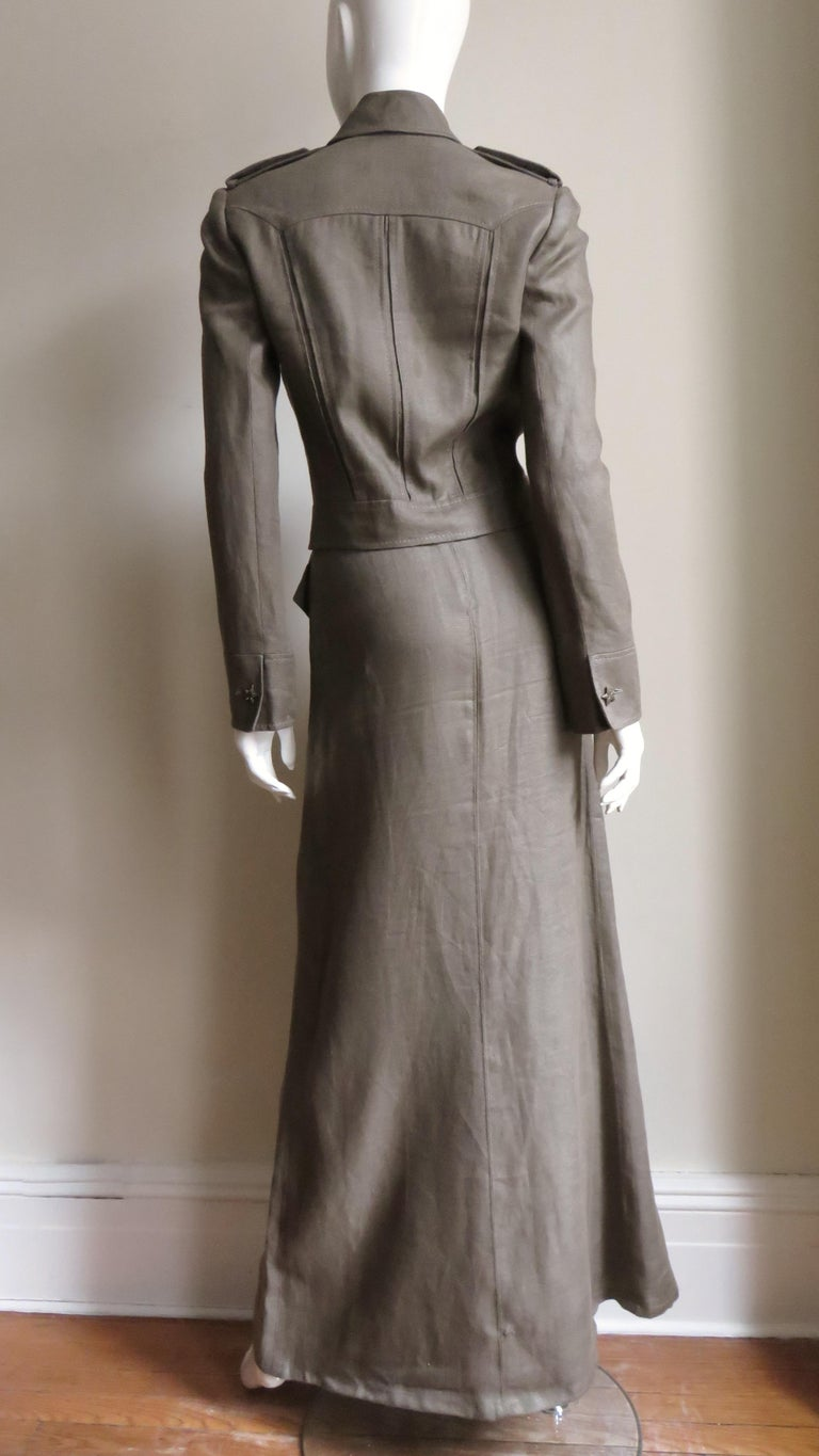 Valentino Linen Jacket and Skirt For Sale 9