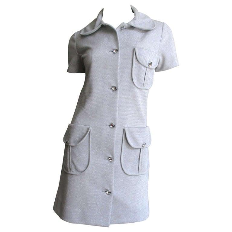 1960s Louis Feraud Lurex Dress