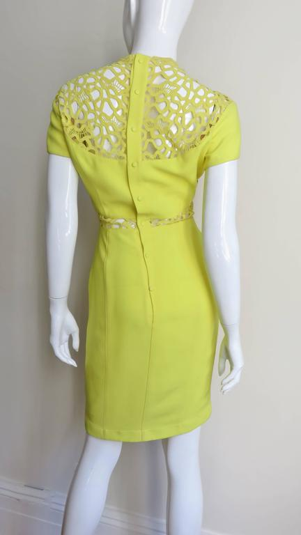 1990s Thierry Mugler Dress With Detailed Midriff & Decolletage 5