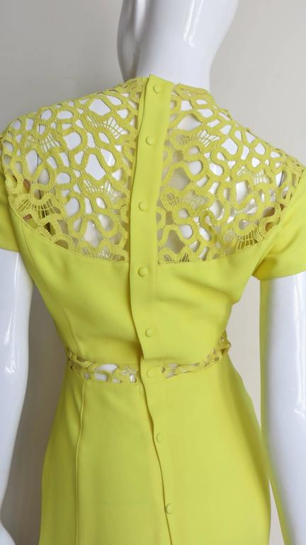 1990s Thierry Mugler Dress With Detailed Midriff & Decolletage 6