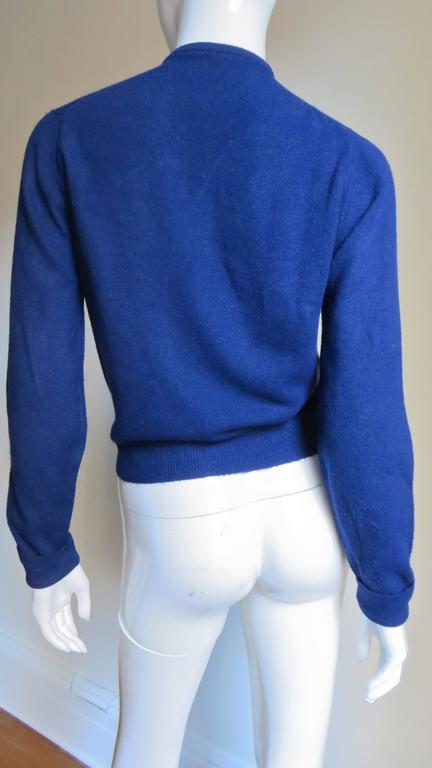 1950s Elsa Schiaparelli Beaded Cashmere Cardigan Sweater For Sale 2