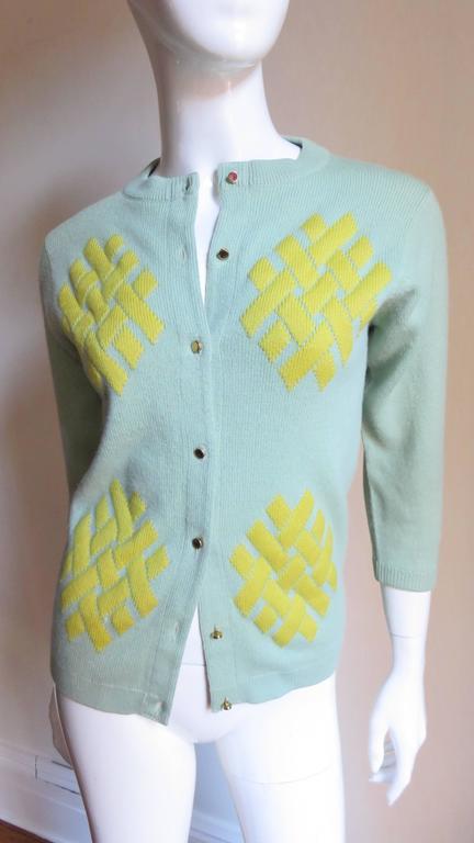 1960's Bonnie Cashin Cashmere Sweater 3