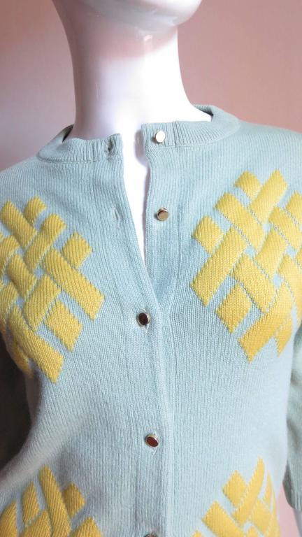 1960's Bonnie Cashin Cashmere Sweater 2