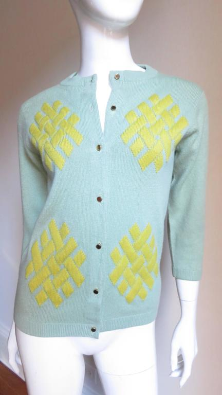 1960's Bonnie Cashin Cashmere Sweater 4