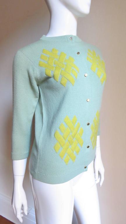 1960's Bonnie Cashin Cashmere Sweater 5