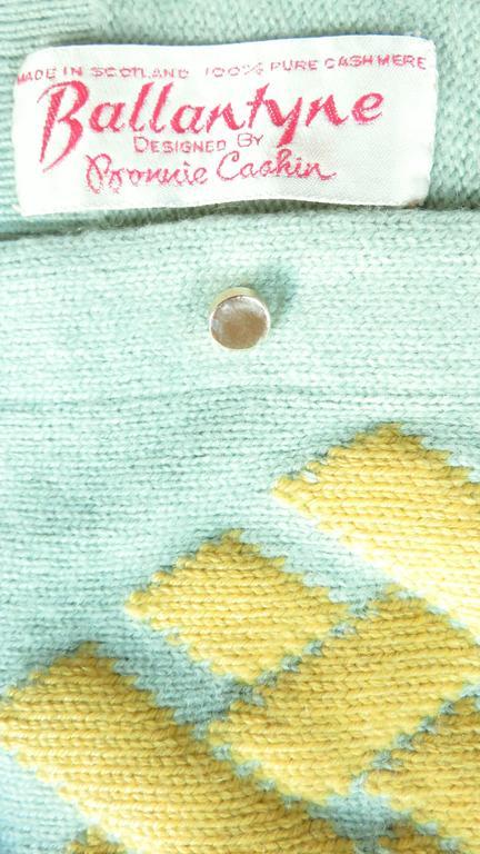 1960's Bonnie Cashin Cashmere Sweater 7