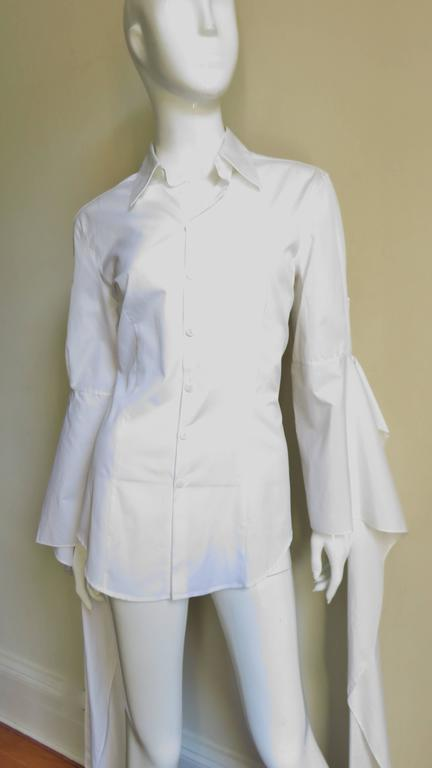 Gaultier Shirt With Draping Sleeves 2