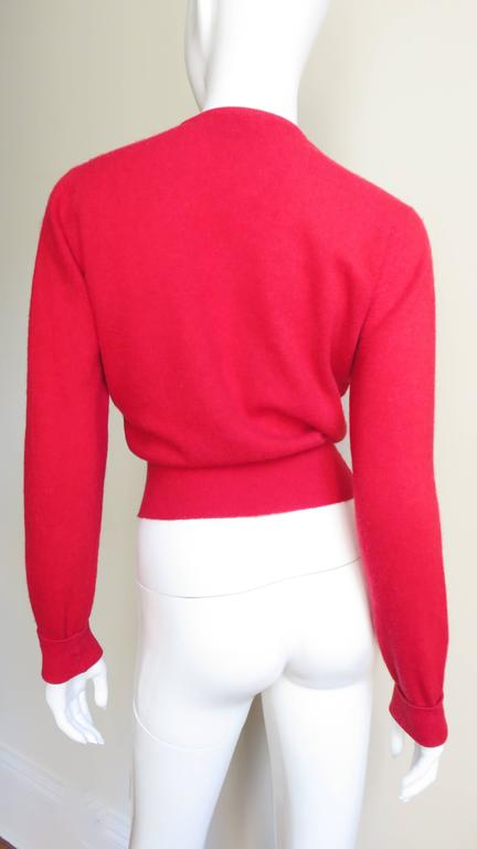 1950s Beaded Cashmere Lyle & Scott Cardigan Sweater For Sale 3
