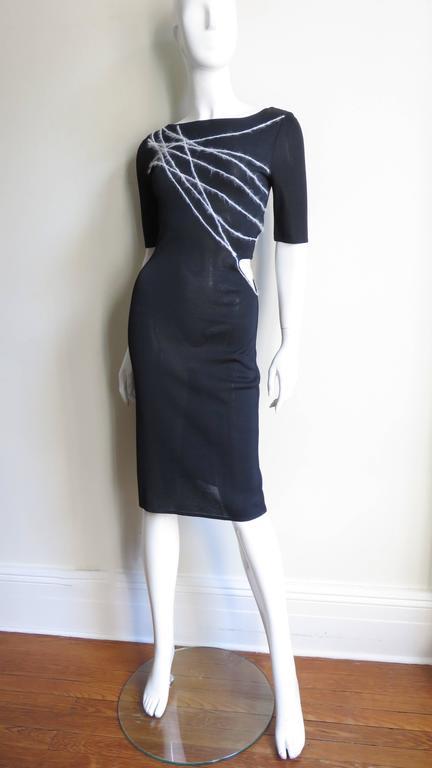 1990s Gianni Versace Cutout Waist Bodycon Dress 5