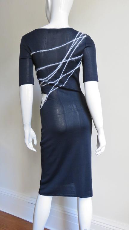 1990s Gianni Versace Cutout Waist Bodycon Dress 6