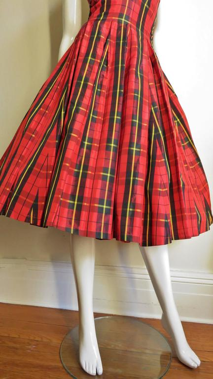 Moshino Plaid Taffeta Halter Dress 3