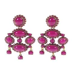 Oscar de la Renta Fuchsia Earrings