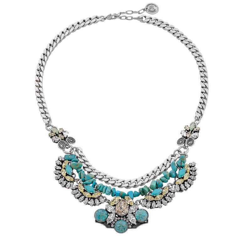 Anton Heunis Turquoise Necklace For Sale