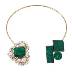 Anton Heunis Pearl & Malachite Necklace