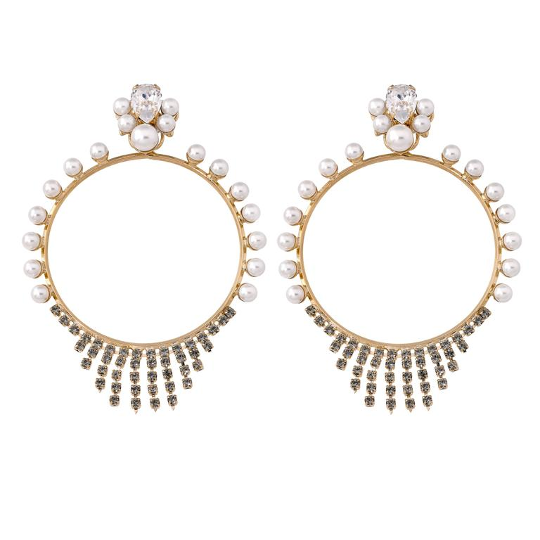 Anton Heunis Pearl Hoop Earrings  1