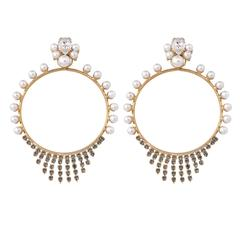 Anton Heunis Pearl Hoop Earrings