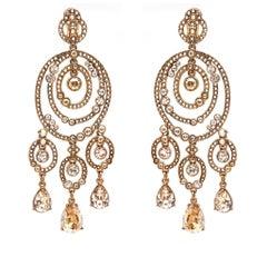 Oscar de la Renta Gold Chandelier Earrings
