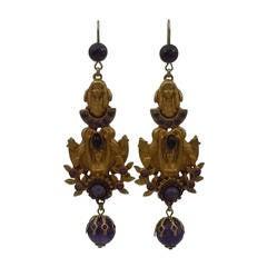 Askew London Maiden and Leaf Drop Earrings