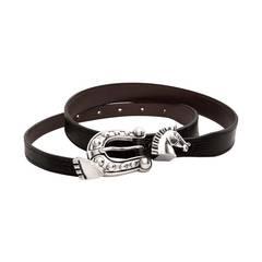 Barry Kieselstein Cord Sterling Silver Equestrian Horse Belt Buckle