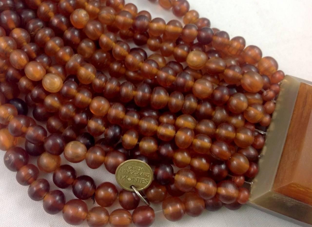 Gerda Lynggaard for Monies Multi Strand Horn Necklace and Earrings 6