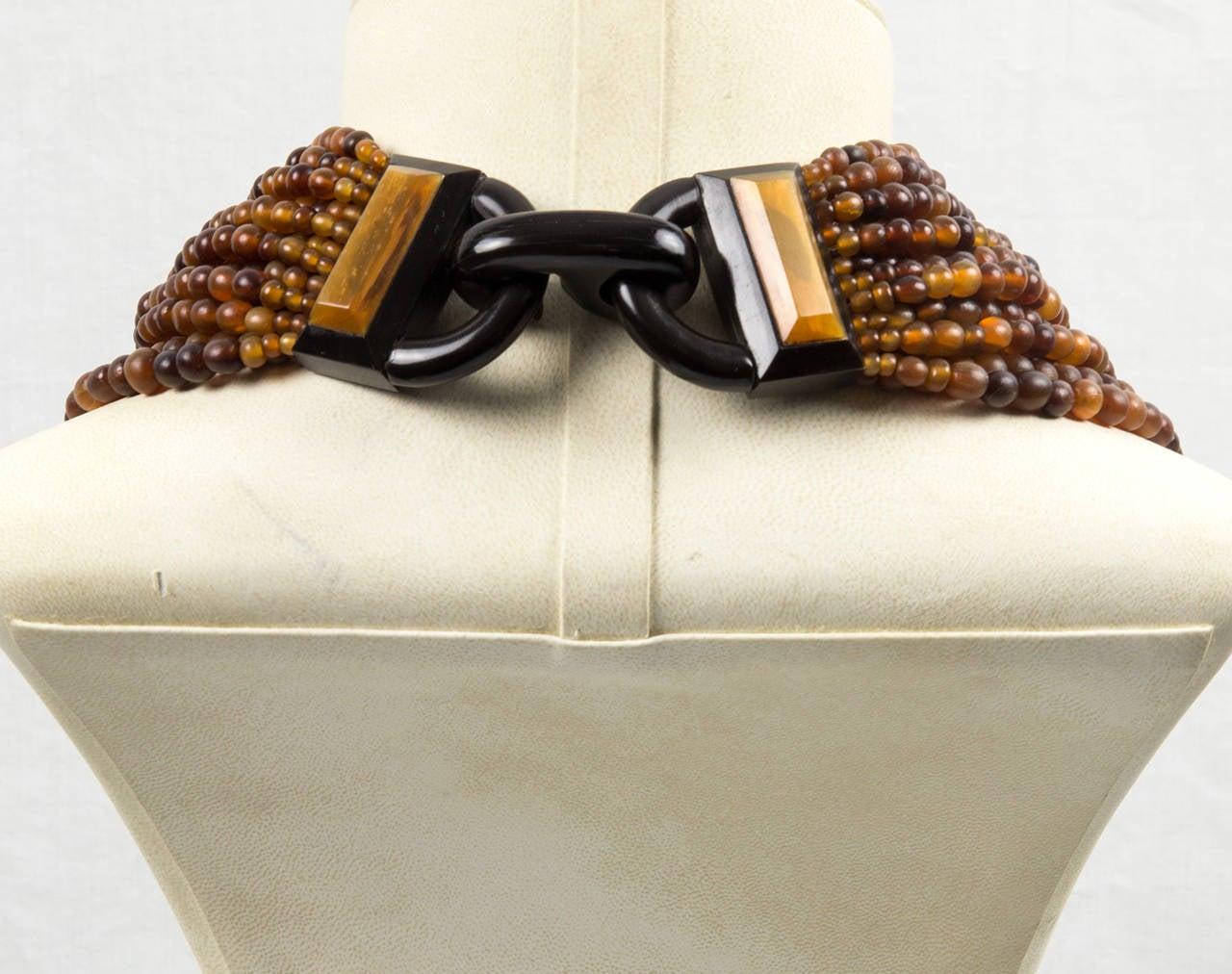 Gerda Lynggaard for Monies Multi Strand Horn Necklace and Earrings 4