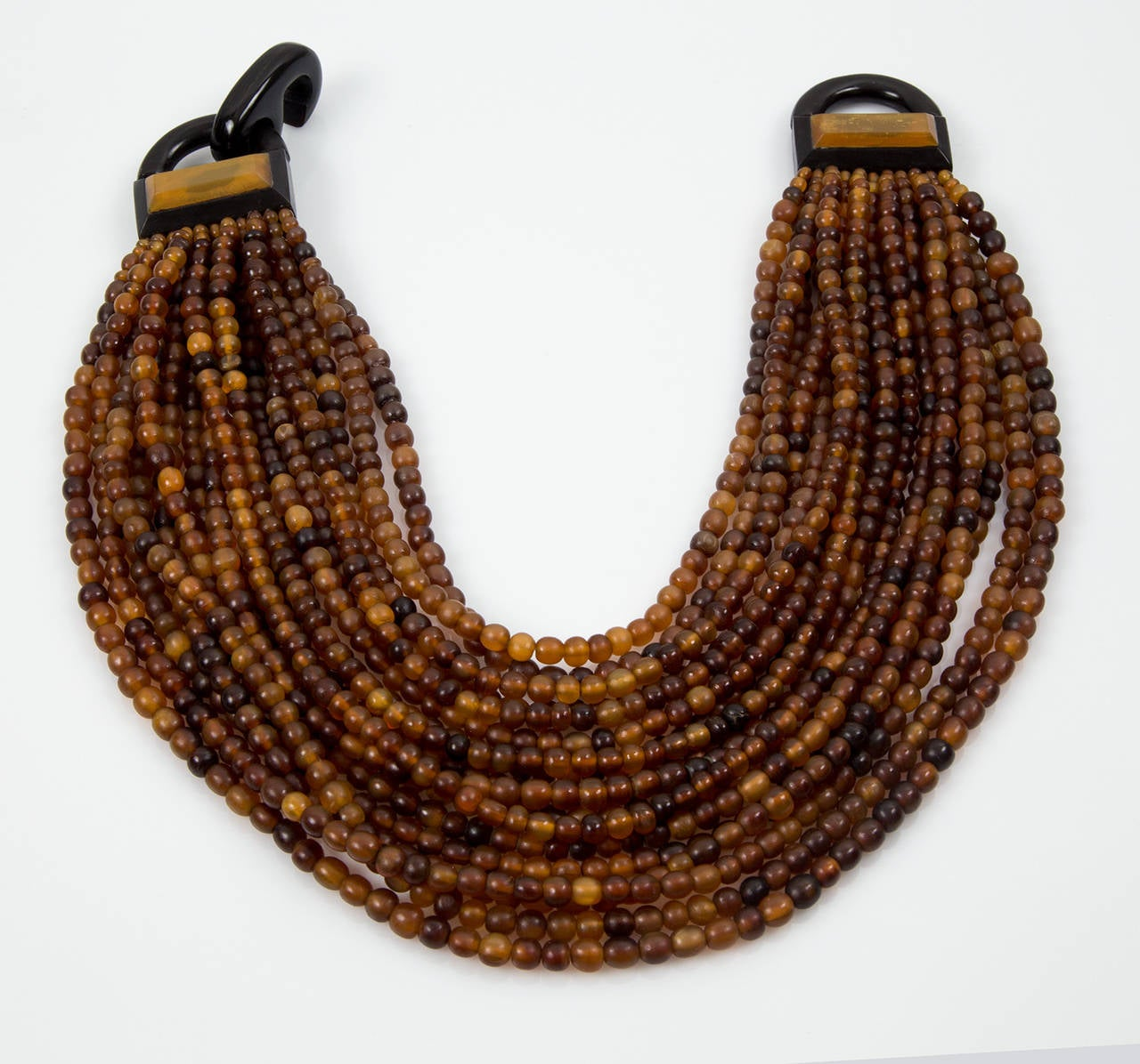 Gerda Lynggaard for Monies Multi Strand Horn Necklace and Earrings 2
