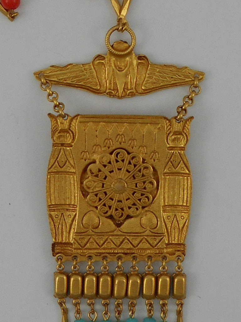 Askew London 'Egyptian Revival' Cleopatra Pendant Necklace 3