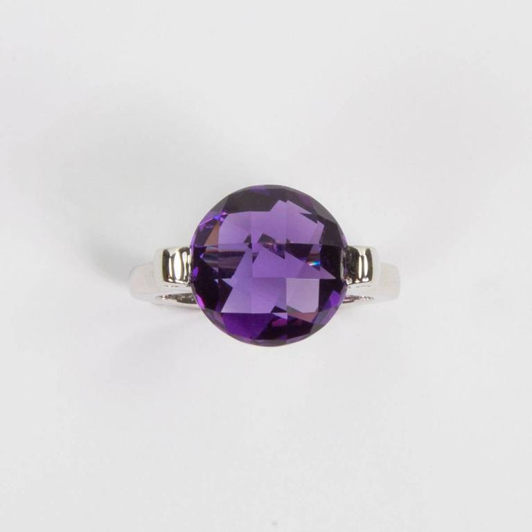 unique modernist solitaire amethyst sterling silver
