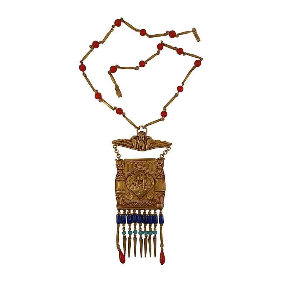 Askew London 'Egyptian Revival' Cleopatra Pendant Necklace 1