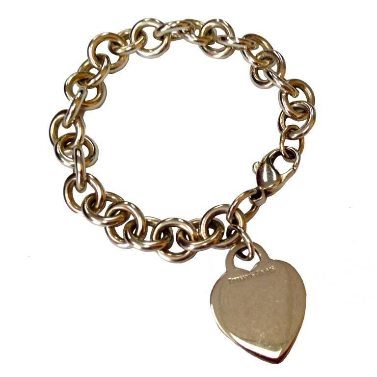 Tiffany Co Sterling Silver Heart Link Bracelet For